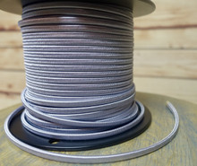 Silver Parallel (Flat) Cloth Covered Wire, Rayon