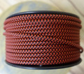 Black & Red Houndstooth Parallel (Flat) Cloth Covered Wire, Nylon