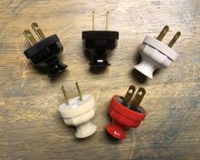 Antique Replica Electrical Plug - Long neck decagon design, 2-prong polarized