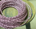 Pink Twisted Cloth Covered Wire, Rayon