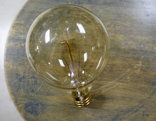 Edison Globe Light Bulb - G30 Spiral Filament, 30 Watt Vintage Squirrel Cage Tungsten Filament