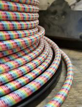 Rainbow Round Cloth Covered 3-Wire Cord, Nylon - PER FOOT
