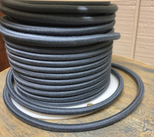 Slate Blue Round Cloth Covered 3-Wire Cord, Cotton - PER FOOT