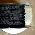 black twisted cloth covered 2 wire