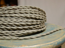 clay grey cotton twisted cloth covered 2 wire