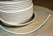 white parallel flat cloth covered 2 wire