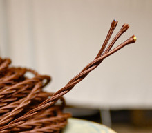 brown twisted cloth covered 3 wire