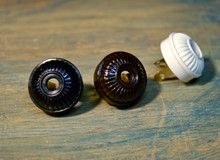 Vintage Style Electrical Plug Ribbed Design, Bakelite Replica