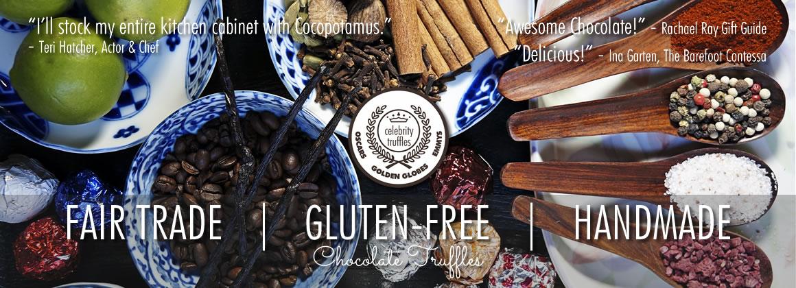 best gluten-free chocolate truffles using only fair trade chocolate and gluten-free ingredients