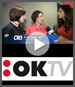oktv interview at the Emmy Awards celebrity gift lounge