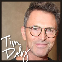Tim Daly tasting best gluten free chocolate truffles at the Oscars and Emmys