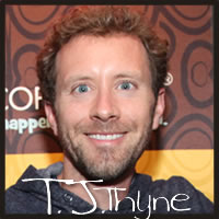 T.J. Thyne from Bones enjoying Cocopotamus gluten free chocolate truffles at the Emmys