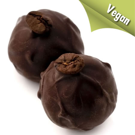 Darth Vegan - vegan black coffee chocolate truffles
