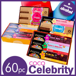 CocoCelebrity assorted chocolate truffle set - a selection of the most popular chocolate truffle flavors of celebrities.