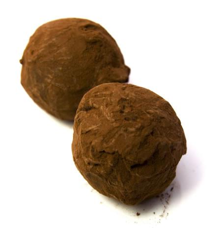 Bo Peep: 88% intensely dark chocolate truffles with organic black raspberry