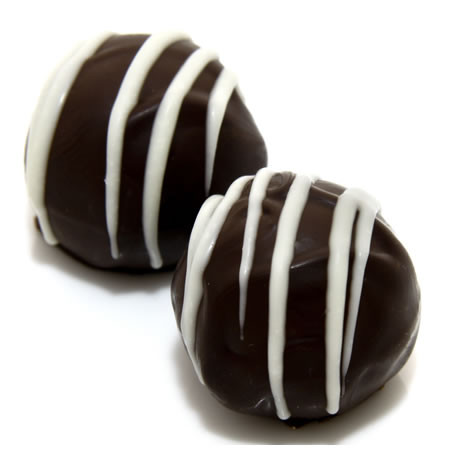 Hang Loose: handmade dark chocolate truffles with island coconut. Hang Loose is gluten free chocolate, handmade and all natural.