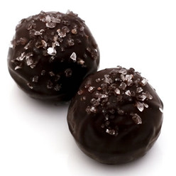 Mr. French: handmade dark chocolate truffles with gourmet sea salt