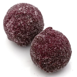 Rosie Posy: dark chocolate fudge truffles infused with Mediterranean rose water and rolled in raspberry sugar