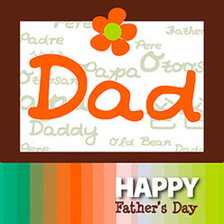 Happy Father's Day card for chocolate gifts
