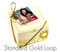 Wedding favor box with standard gold loop (included in price)