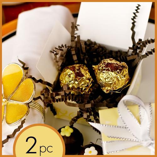 Best Wedding Chocolate Truffles in 2 pc box handmade and gluten