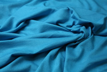 AQUAMARINE RAYON KNIT FABRIC