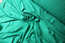 EMERALD RAYON KNIT FABRIC