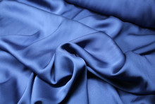 MIDNIGHT BLUE STRETCH  SILK CHARMEUSE