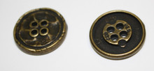 Antique Brass Metal Button 20mm