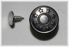 Black Star Jean Tack Button - Pack of 4