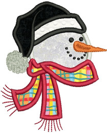 No 150 Applique Snowman Machine Embroidery Designs