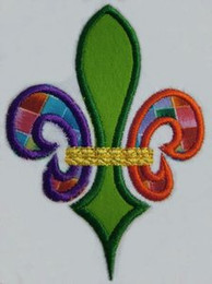 No 860 Tri-Color Applique Fleur de Lis Machine Embroidery Designs