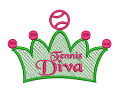 No 106 Tennis Diva Machine Embroidery Designs