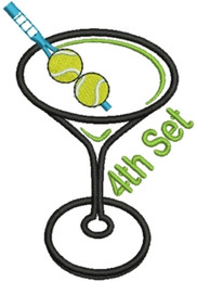 No 455 Tennis Martini with Straight Stem Embroidery Designs