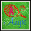 Used with our Breast Cancer Awareness Tennis Racquet & Ball Design