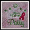 Used with our Breast Cancer Awareness Tennis Diva Design