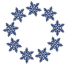 No 19 Snowflake Frames Machine Embroidery Designs