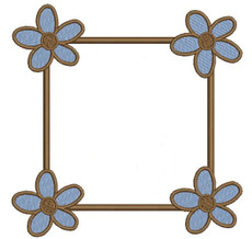 No 40 Spring Flower Font Frames Machine Embroidery Designs