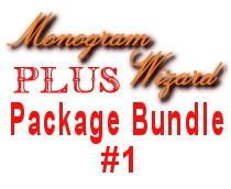 MWP Package Bundle No 1 Includes Monogram Wizard Plus and Extended Features