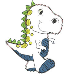 No 588 Dino the Donosaur Applique Machine Embroidery Designs
