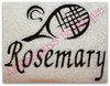 "This example is shown with letters from our #129 Zebra Font to spell ""Rosemary"""