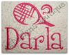 "This example is shown with letters from our #99 Fun Font to spell ""Darla"""