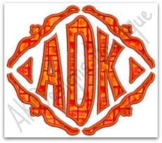 No 1322 Applique Diamond Monogram Machine Embroidery Designs 5x7 Hoop