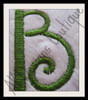 "Close-up of 1.7"" Side Letter ""B"" stitched out"