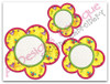 All 3 Applique Flowers included in this set