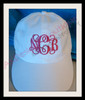 NCB stitched on a hat.