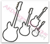 All 4 Satin Stitch Applique Guitars