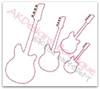 All 4 Zig Zag Stitch Applique Guitars