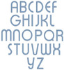 All uppercase letters included in the set