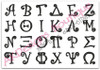All the Greek Letters included in this set.